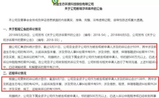 2018年6月6日,鹏元资信将阳光凯迪主体长期信用等级下调至C。