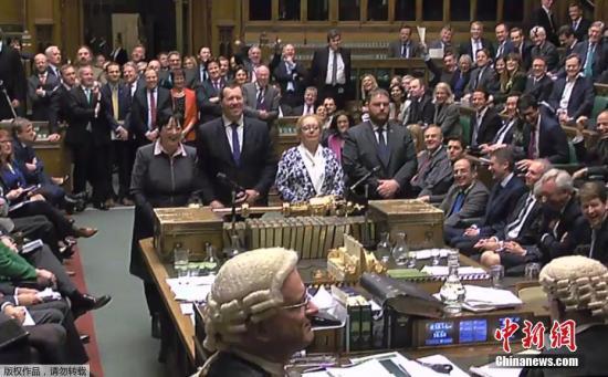 材料图:英国议会下议院。