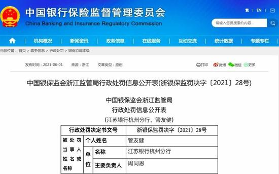 """江苏银行竟要求信贷客户""""存款回报""""?银保监会罚了"""
