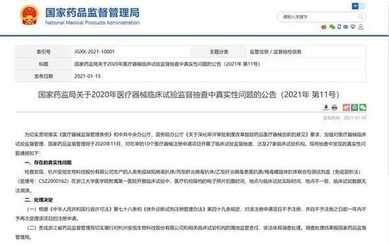 安旭科技IPO前被举报临床数据造假 由浙江大学海归创办