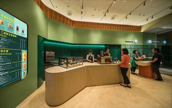 ▲ 星巴克位于北京的啡快观点店 图片去自:Starbucks