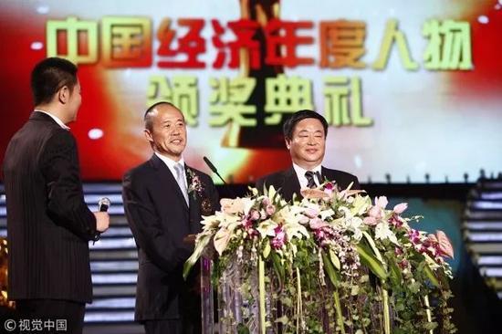 ▲2009年12月,北京,王石在2009年度中国经济人物颁奖典礼上