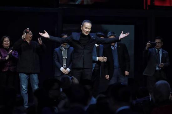 ▲2018年1月23日,北京 王石在生日当天于水立方演讲 新京报记者 王嘉宁/摄