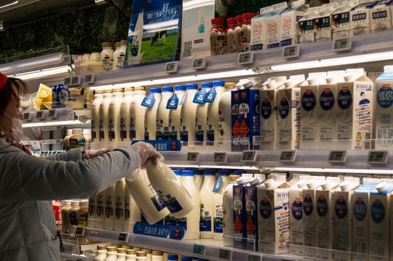 纽仕兰鲜奶在盒马门店上架