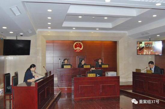 ▲3月5日,朝阳法院开庭审理此案。法院供图