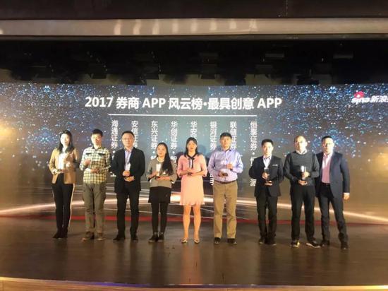 """恒泰小派荣获2017券商APP风云榜""""最具创意APP""""奖"""