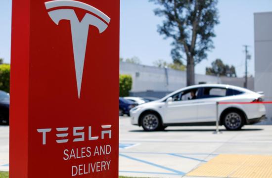2018年6月28日,美国加州Costa Mesa,特斯拉销售服务中心。