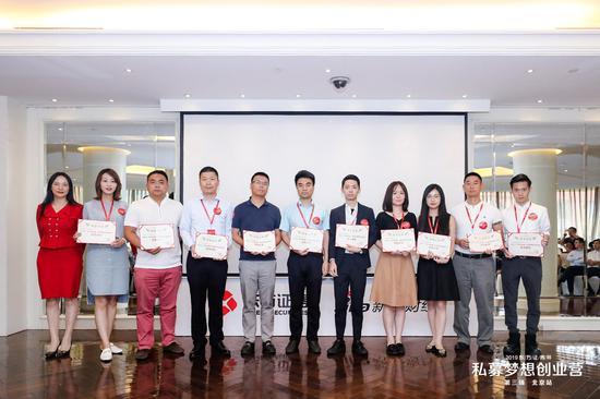 6月月度优秀机构领取荣誉证书