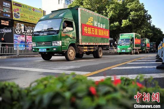 中国55.6万个建制村提前实现直接通邮 启动快递进村