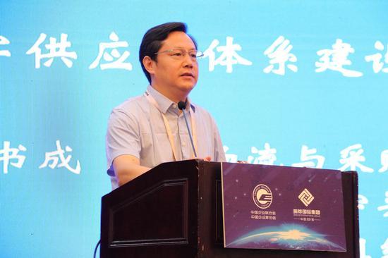 中國物流與采購聯合會現代供應鏈研究院執行副院長王書成 新浪財經 鄧健 攝