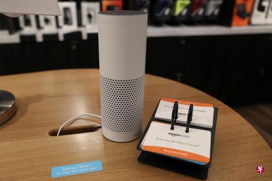 亚马逊出品的人工智慧无线扬声器Echo 图片来源娌�:路透社