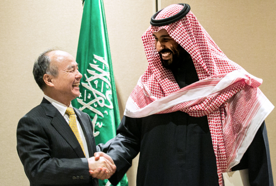 """""""沙特拟再投450亿美元 加倍押注软银基金"""