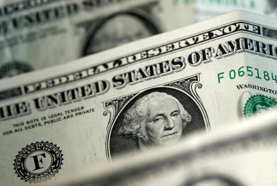 資料圖片:2017年4月,美元紙幣。