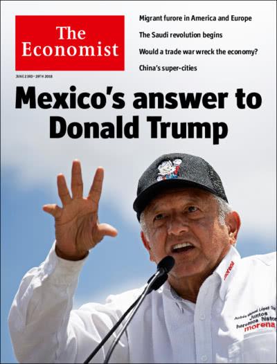 图为《经济学人》杂志封面