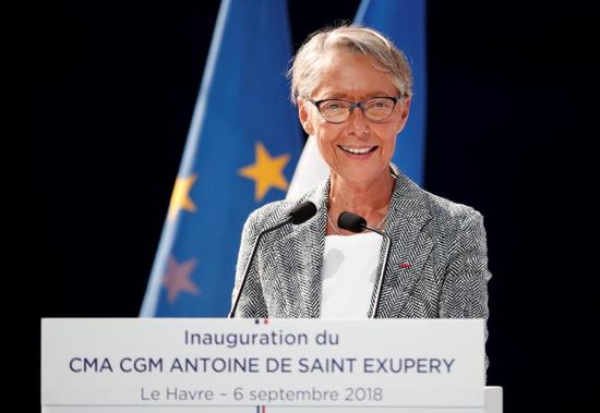 French Transport Minister Elisabeth Borne