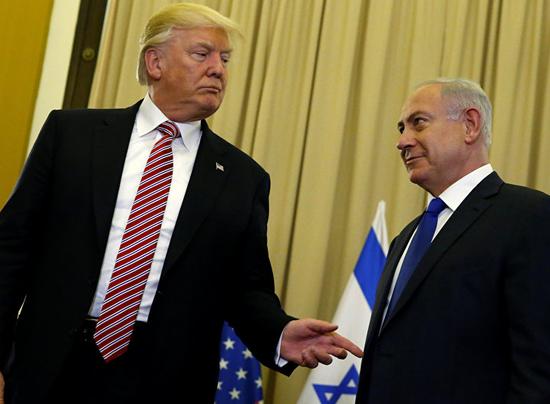 美国总统特朗普和以色列总理内塔尼亚胡 (图片来源:俄罗斯卫星网)