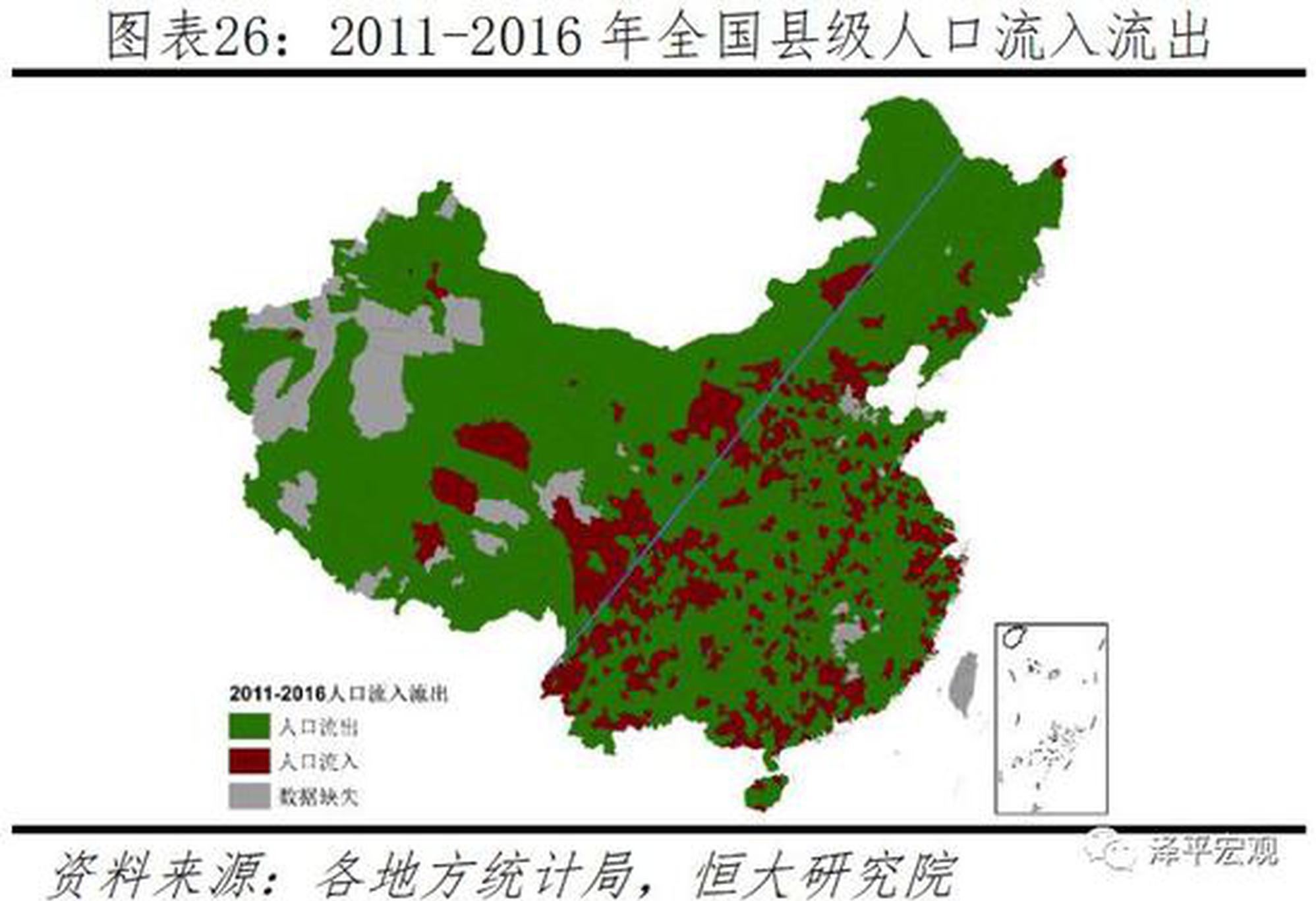 中国人口流动全景呈现