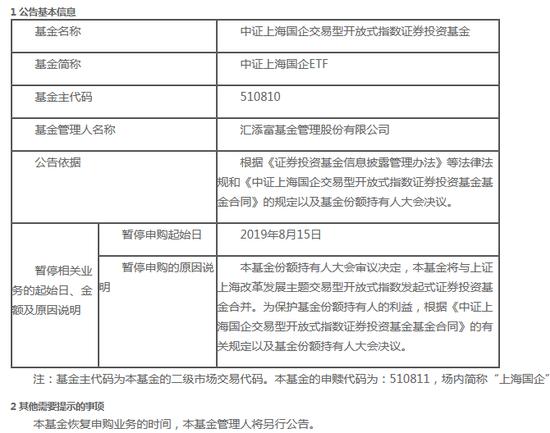 规模合计达134.66亿  汇添富旗下两只ETF拟申请合并