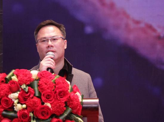 第三届(2016)中国资管精英大会于2016年3月11日至13日在深圳举行。上图为上海鸿凯投资有限公司董事长林军。(图片来源:新浪财经 许孝如 摄)