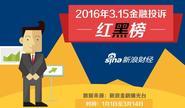 2016年3.15金融投诉红黑榜