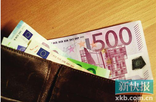 ■紫色的500欧元钞票将成为历史。新华社发