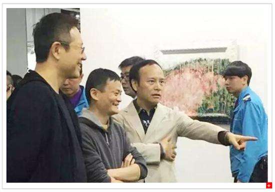 马云在香港巴塞尔艺术展上