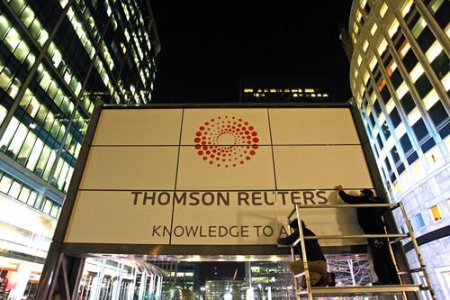 汤森路透预回购90亿美元股票 在资产出售后回馈股东