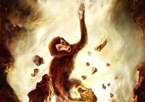 猴王孙悟空诞生图