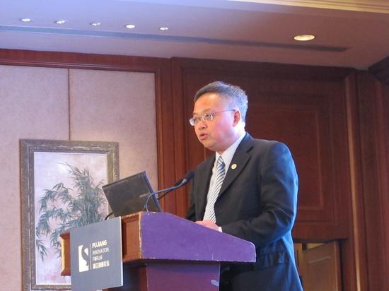 上图为上海市科委副主任马兴发