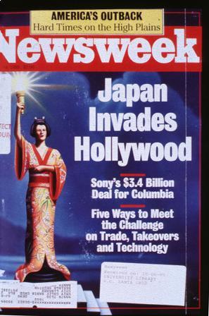 《新闻周刊》的封面标题为《日本进攻好莱坞》