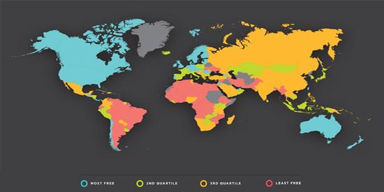 图片:菲莎研究所《2016年度全球经济自由度报告》