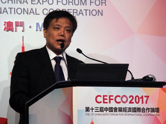 中国国际商会会展部部长郭英会