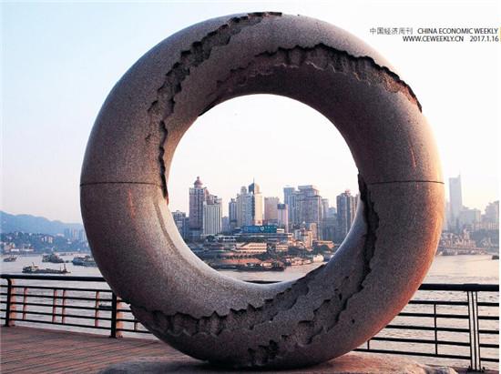 重庆南滨路旁的趣味雕塑, 透过雕塑看见的重庆城市。