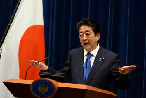 资料图片:日本首相安倍晋三 新华社记者马平摄