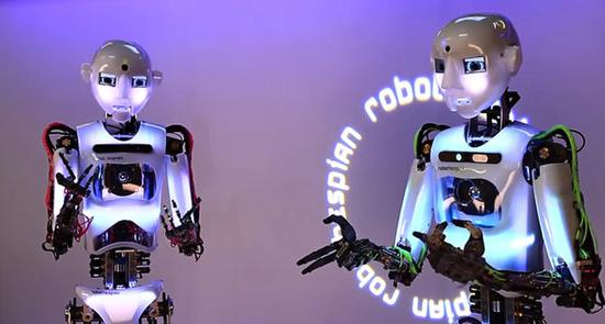 Robothespian在表演《我不是個機器人》