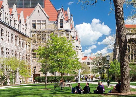 货币中性理论是芝加哥大学对经济学理论的最主要贡献之一,图为芝加哥大学大学校园