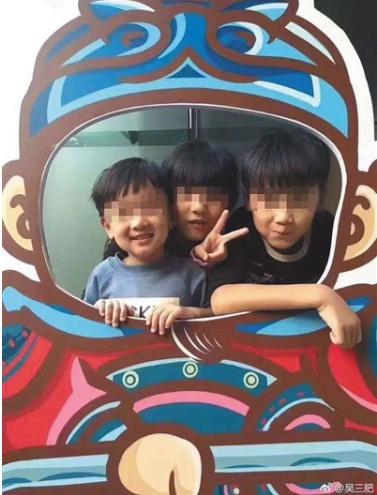 林家三个孩子的生前合影。