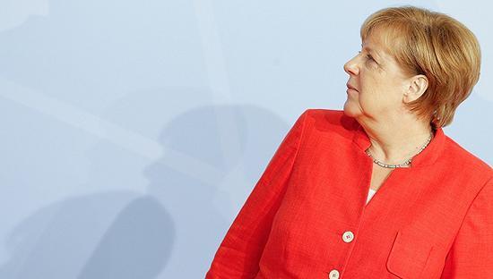 2017年7月7日,德国总理默克尔在G20峰会上。图片来源:视觉中国