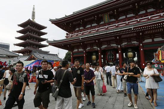 2月访日外国游客人数同比大增23.3%达250.9万人
