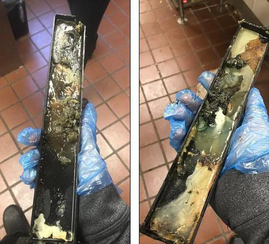 美国男子Nick在其Twitter上发照片称,这是麦当劳冰淇淋机上的零件。