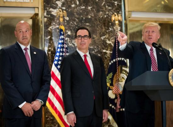 (左一为白宫全国经济委员会主任加里-科恩)