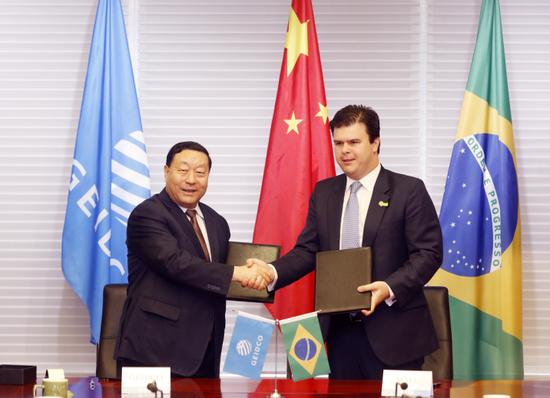 刘振亚与巴西矿能部长签合作声明 推可再生能源发展