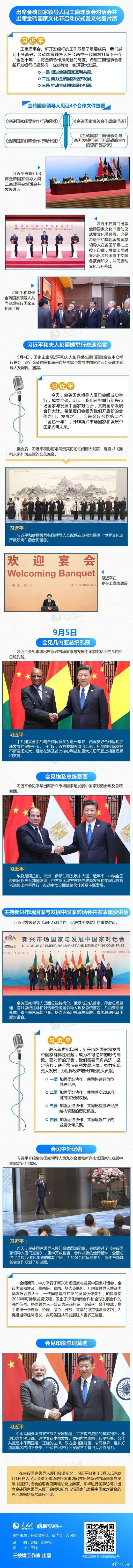 习近平出席金砖国家领导人厦门会晤全纪录 图解图片
