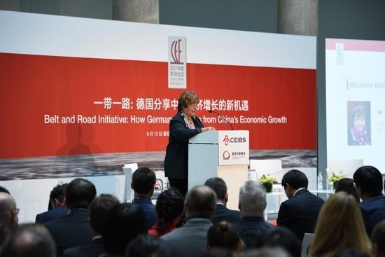 慕尼黑和上巴伐利亞工商會副主席Stephanie Spinner-K?nig女士致歡迎辭
