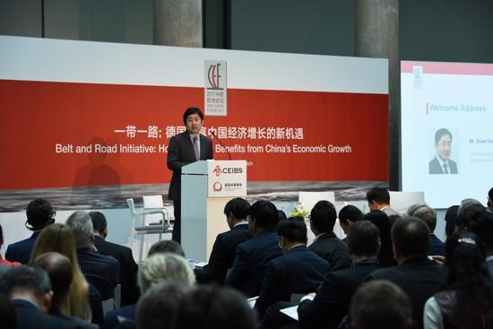 德國中國商会幹事長段煒先生為論壇致歡迎辭