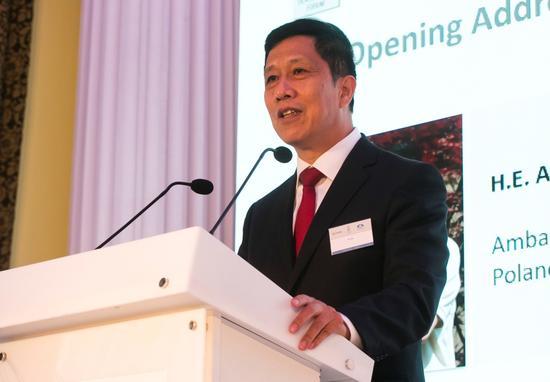 中国驻波兰大使徐坚为论坛致开幕辞