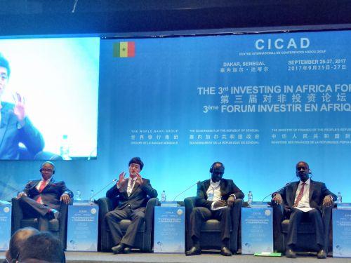 阿里巴巴作为中国唯一一家互联网企业参加对非投资论坛,图为蚂蚁金服战略部资深总监孙涛(左二)介绍中国普惠金融和移动支付