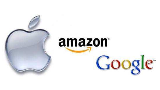 苹果、谷歌、亚马逊 谁将率先成为市值万亿公司