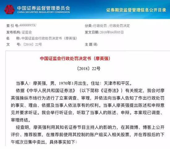 根据证监会文件,中国基金报将廖英强的具体操纵事实梳理如下表: