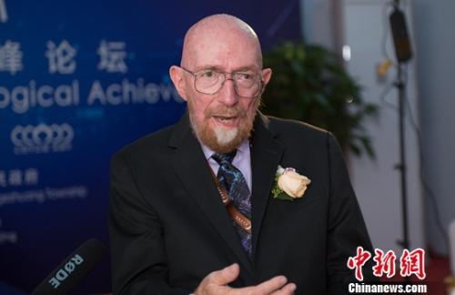 2017年诺贝尔物理学奖得主基普·索恩。中新网李卿摄